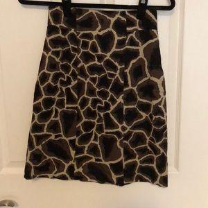 Elie Tahari Giraffe Print Pencil Skirt